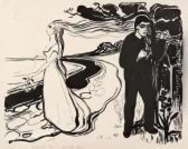 Separation I Oil Painting - Edvard Munch