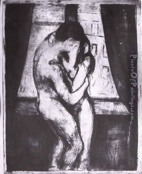 The Kiss 3 Oil Painting - Edvard Munch
