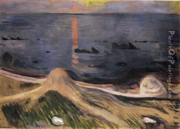 The Mystery of a Summer Night Oil Painting - Edvard Munch