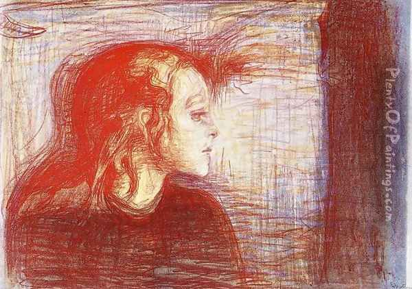 The Sick Child 2 Oil Painting - Edvard Munch