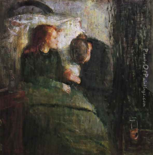 The sick child 1885-86 Oil Painting - Edvard Munch
