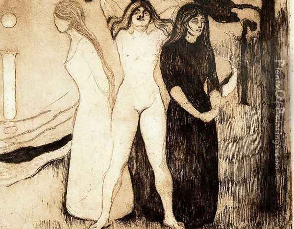 The woman Oil Painting - Edvard Munch