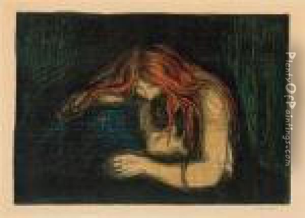 Vampire Ii Oil Painting - Edvard Munch