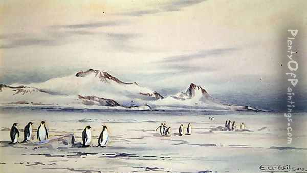 The Discovery Winter Quarters Oil Painting - Edward Adrian Wilson