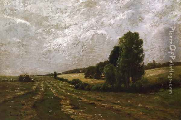The Meadow, Sweet with Hay, Long Island, New York Oil Painting - Edward B. Gay