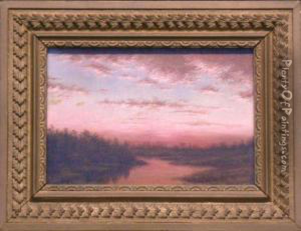 Twilight On The Marsh Oil Painting - Edward B. Gay