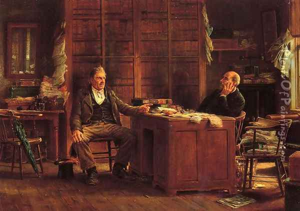 A Country Lawyer Oil Painting - Edward Lamson Henry