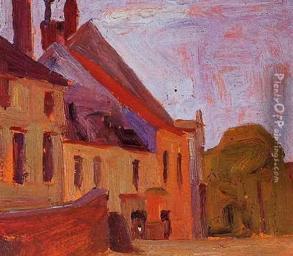 Houses On The Town Square In Klosterneuberg Oil Painting - Egon Schiele