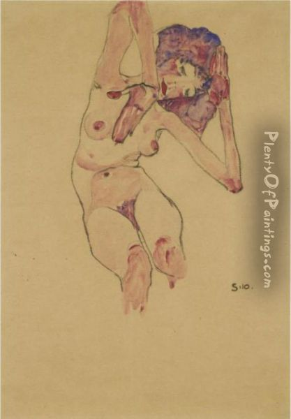 Sitzender Frauenakt Mit 