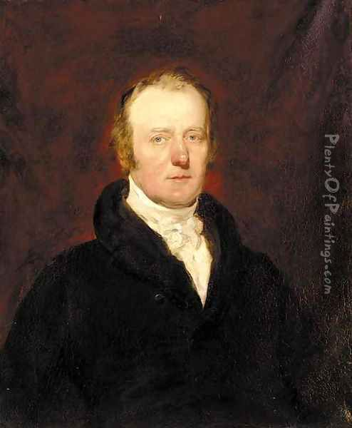 Portrait of John Justice Soulham (1774-1862) Oil Painting - English School