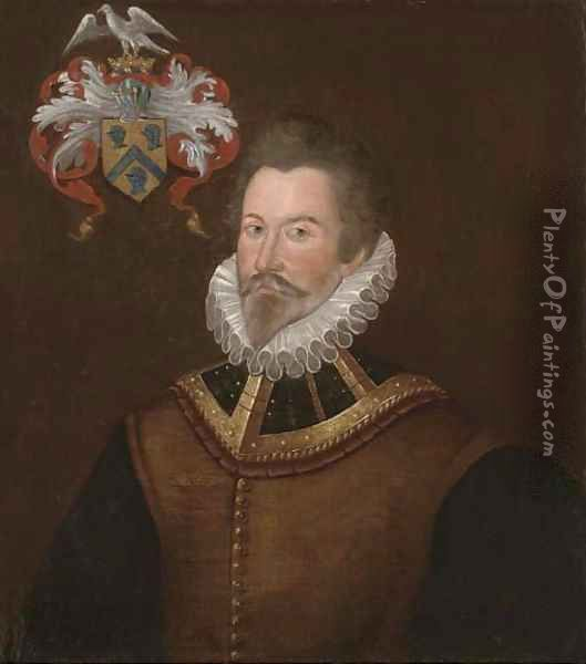 Portrait of a gentleman, traditionally identified as Leven Bufkin of Gore Court, Otham, Kent (1533-1617) Oil Painting - English School