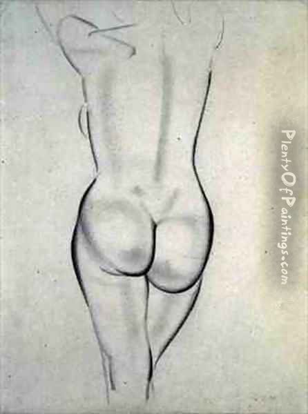 The Nude Oil Painting - Eric Gill