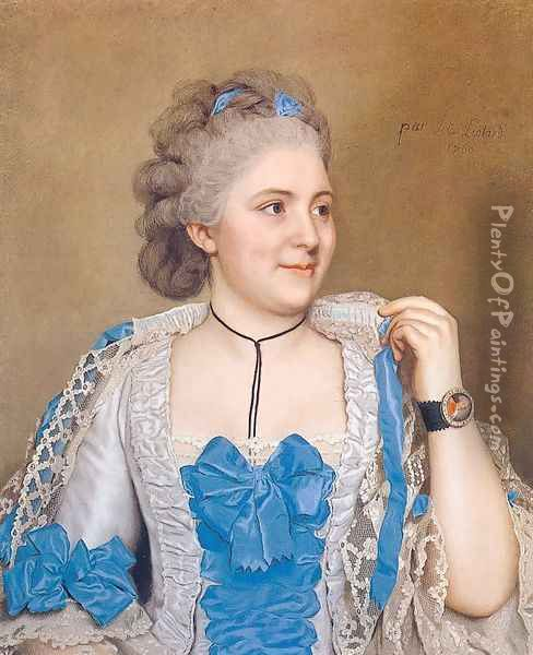 Portrait of Julie de Thellusson-Ployard 1760 Oil Painting - Etienne Liotard