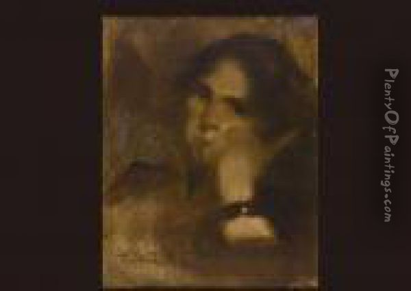 Figure Of Women Oil Painting - Eugene Carriere