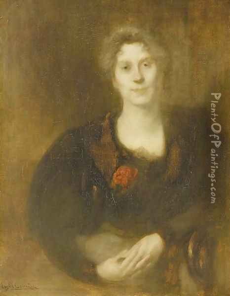 Portrait of Lucie Gallimard Oil Painting - Eugene Carriere