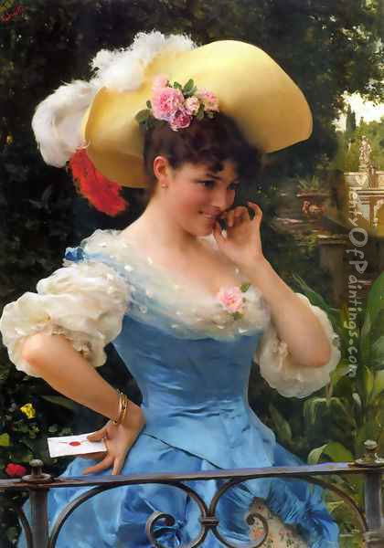 The Love Letter Oil Painting - Federico Andreotti