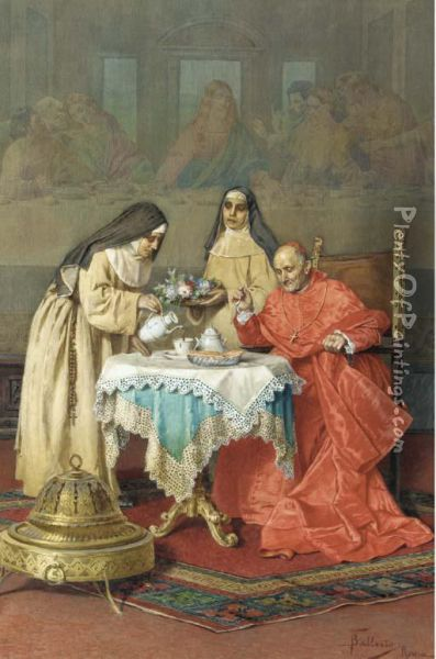 The Cardinal's Tea-time Oil Painting - Federico Ballesio