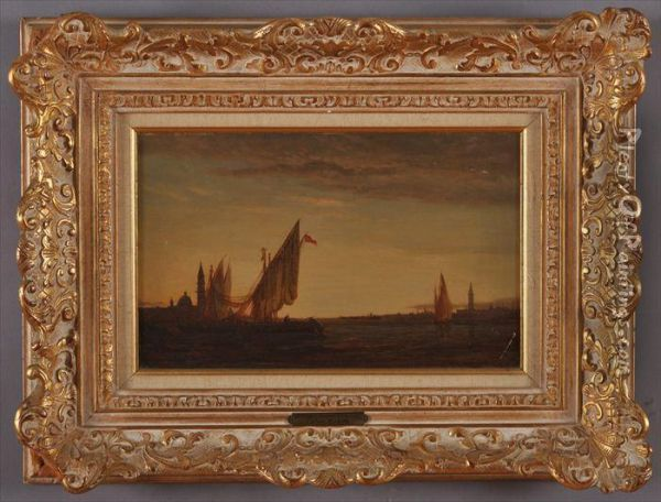 Coastal View With Ships Oil Painting - Felix Ziem