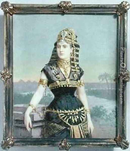 Lady Paget Mrs Arthur Henry Paget 1891 Oil Painting - Fernand Paillet
