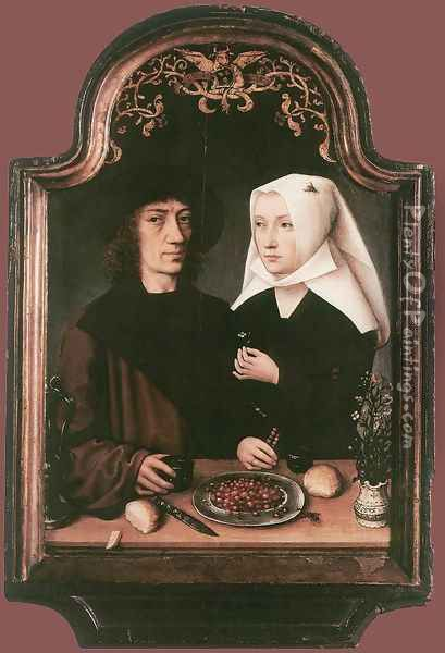 Portrait of the Artist and his Wife 1496 Oil Painting - Flemish Unknown Masters