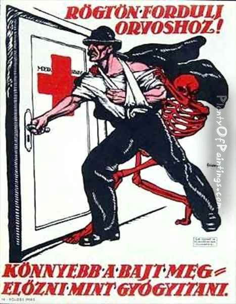 Poster on Safety at Work Oil Painting - Foldes