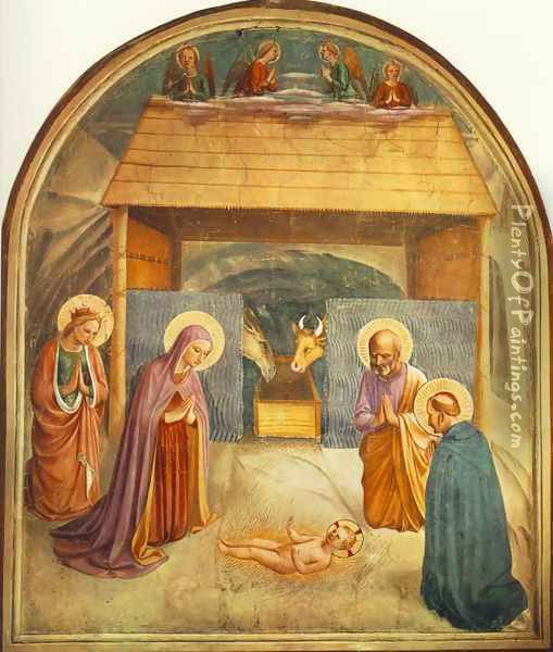 Nativity Oil Painting - Fra Angelico (Guido di Pietro)