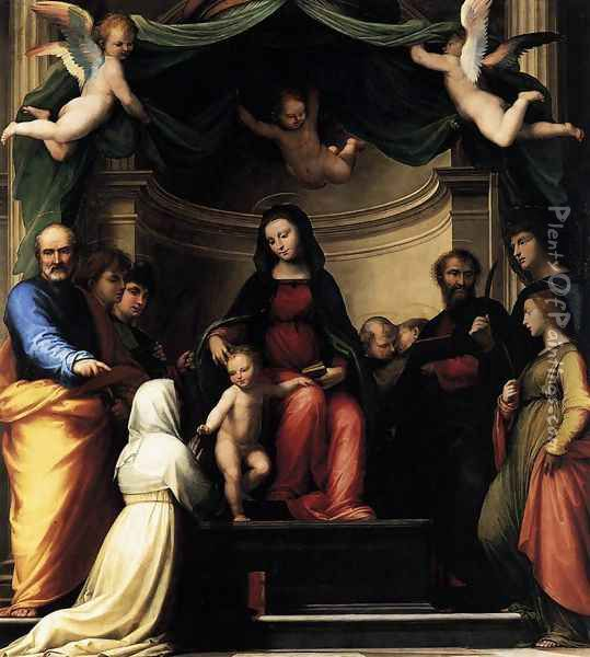 The Marriage of St Catherine of Siena 1511 Oil Painting - Fra Bartolomeo