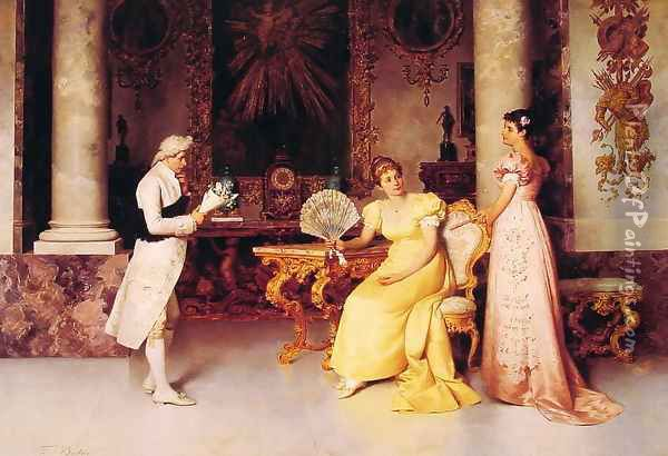 The Suitor I Oil Painting Reproduction By Francesco Beda