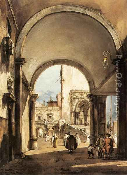 An Architectural Caprice 1777 Oil Painting - Francesco Guardi