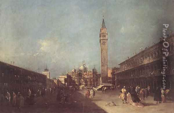 Piazza San Marco 1760s Oil Painting - Francesco Guardi