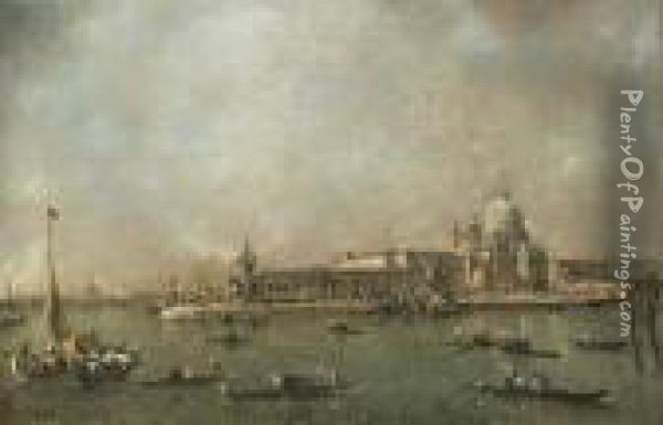 The Entrance To The Grand Canal, Venice Oil Painting - Francesco Guardi