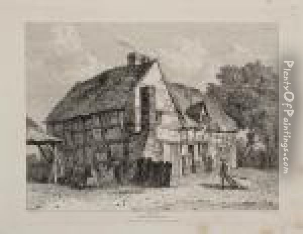 Views Of Cottages And Farm-houses In England And Wales Oil Painting - Francis Stevens