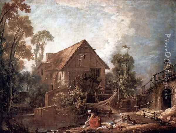 The mill Oil Painting - Francois Boucher
