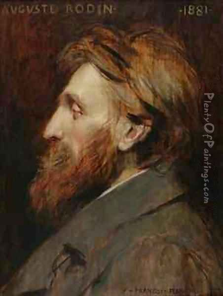 Portrait of Auguste Rodin 1840-1917 Oil Painting - Francois Flameng