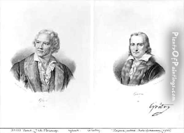 Christoph Willibald von Gluck 1714-87 and Andre Ernest Modeste Gretry 1741-1813 Oil Painting - Francois Seraphin Delpech