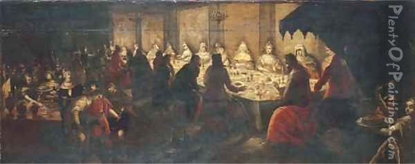 The Wedding Feast at Cana Oil Painting - Frans I Francken