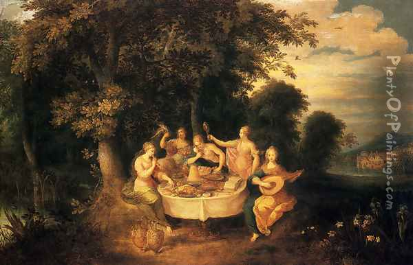The Five Senses Oil Painting - Frans the younger Francken