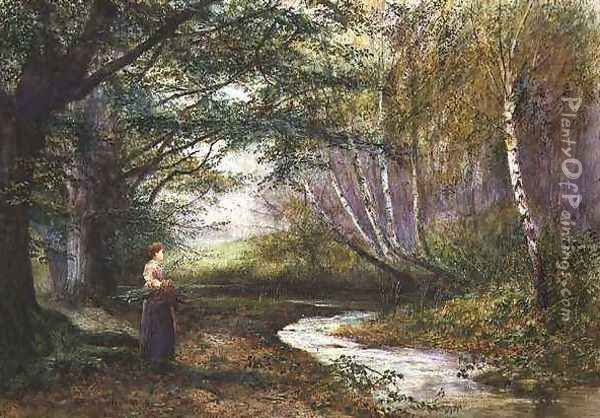 Burnham Beeches Autumn Oil Painting - Fred Hines
