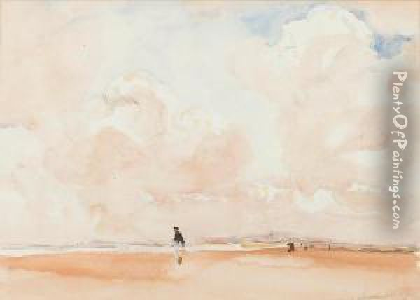 Figure On A Beach Oil Painting - Fred Mayor