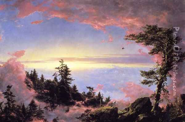 Above The Clouds At Sunrise Oil Painting - Frederic Edwin Church