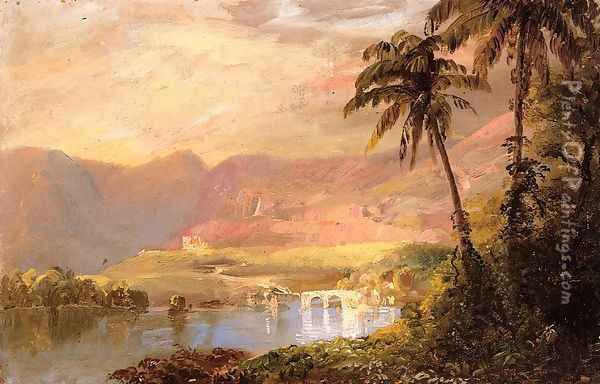 Tropical Landscape Oil Painting - Frederic Edwin Church