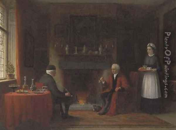 Fireside Conversation Oil Painting - Frederick Daniel Hardy