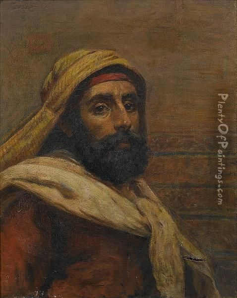 A Gentleman Of Cairo Oil Painting - Frederick Goodall