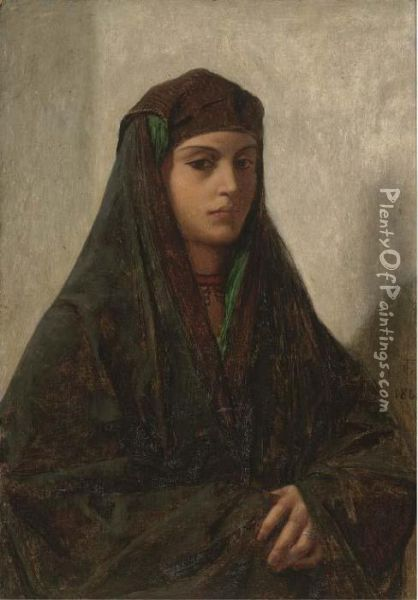 A Woman Of Cairo Oil Painting - Frederick Goodall
