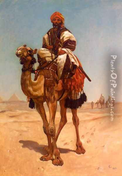 An Egyptian Nomad Oil Painting - Frederick Goodall