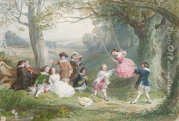 Fete Champetre Oil Painting - Frederick Goodall