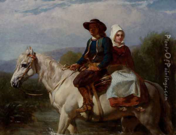 Fording The Stream Oil Painting - Frederick Goodall