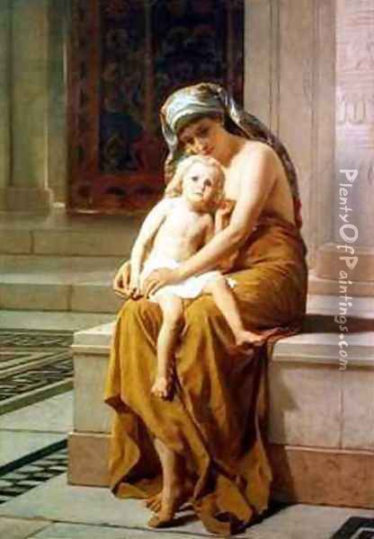 Mother and child Oil Painting - Frederick Goodall