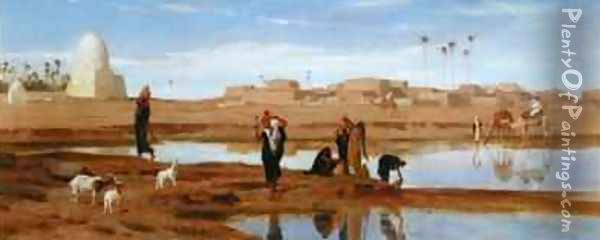 On the Banks of the Nile Oil Painting - Frederick Goodall