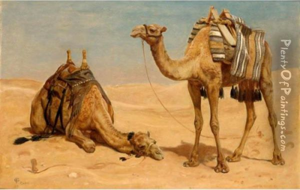 Resting From The Day's Journey Oil Painting - Frederick Goodall